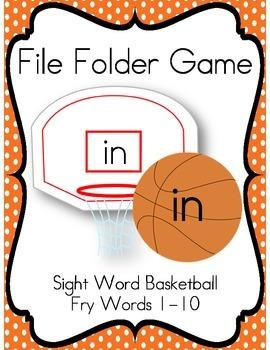 File Folder Game (Fry Sight Words 1-10)