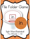 File Folder Game (Fry Sight Words 1-10)