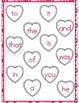 File Folder Game (Fry Sight Words 1-25 Matching Hearts)