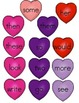 File Folder Game (Fry Sight Words 51-75 Matching Hearts)