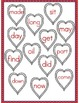 File Folder Game (Fry Sight Words 75-100 Matching Hearts)