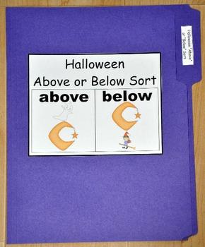 "File Folder Game:  Halloween ""Above/Below"" Sort"