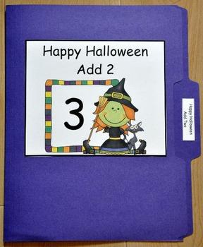 File Folder Game:  Halloween Add Two