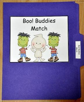 "File Folder Game:  Halloween ""Boo Buddies"" Match I"