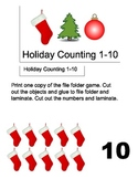 File Folder Game: Holiday Number Counting