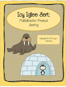 File Folder Game:  Icy Igloo Sort:  Multiplication Product Sorting- Factors