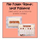 File Folder Game: Leaf Patterns