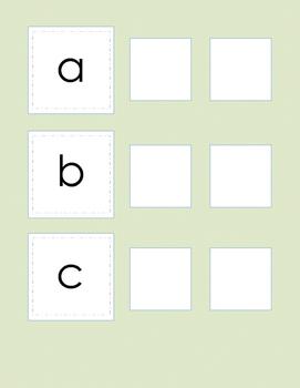 File Folder Game Letter Sound Matching