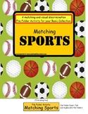 File Folder Game MATCHING SPORTS {Special Education, Pre-K, Kindergarten}
