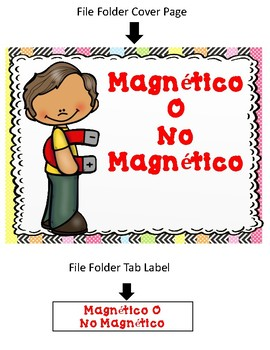 File Folder Game:  Magnetico o No Magnetico