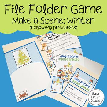 File Folder Game - Make a Scene: Winter Animals