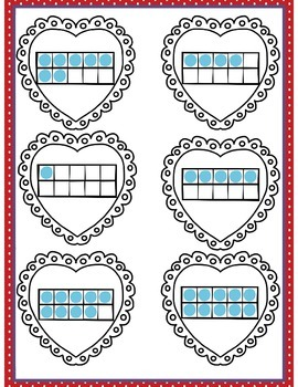 File Folder Game (Matching Hearts Ten Frame 0-10)