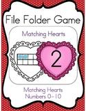 File Folder Game (Matching Hearts Ten Frame 0-10)