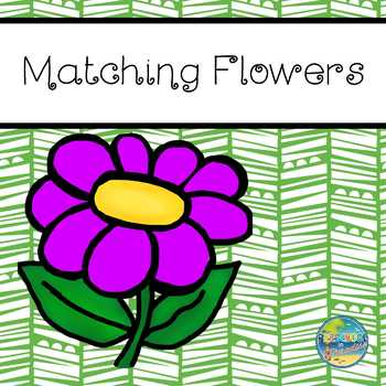 File Folder Game--Matching Flowers (Sizes)