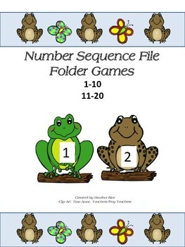 Number Sequence File Folder Game and Worksheets - Frogs