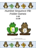 File Folder Game Number Sequence - Frogs