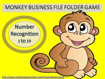 Math Workshop Number Recognition 1 to 19 File Folder Game
