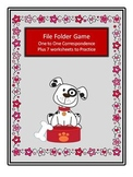 File Folder Game - One to One correspondence- puppies and cats