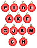 File Folder Game: Ornament Letter Matching