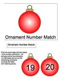 File Folder Game: Ornament Number Matching