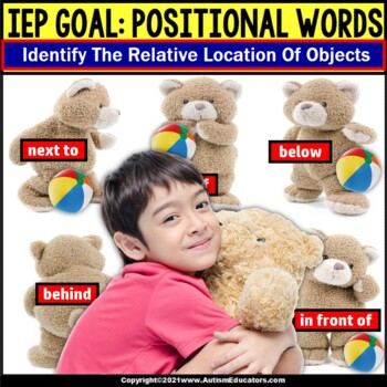 File Folder Game POSITIONAL Words for Special Education