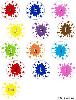 File Folder Games Alphabet Paintball Literacy Center Kindergarten Preschool