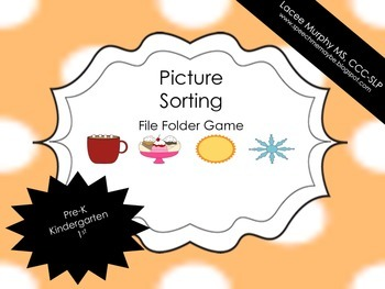 File Folder Game: Picture Sorting Hot & Cold Items
