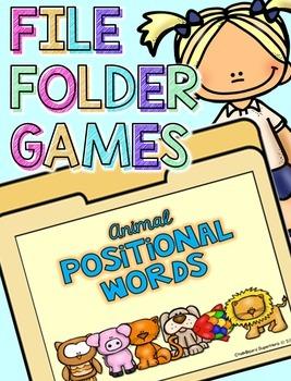 File Folder Game: Positional Words