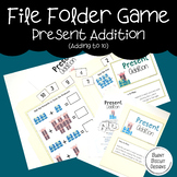 File Folder Game - Present Addition - Adding to 10