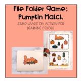 File Folder Game: Pumpkin Match