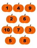 File Folder Game: Pumpkin Number Matching