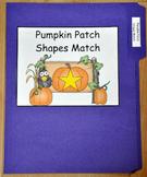 File Folder Game:  Pumpkin Patch Shapes Match