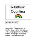 File Folder Game: Rainbow Counting