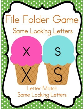 File Folder Game (Same Looking Letters)