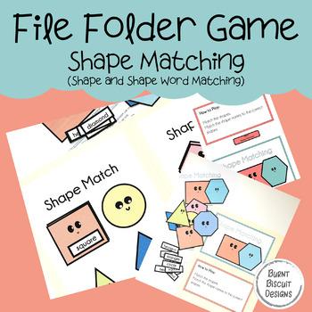 File Folder Game - Shape Matching