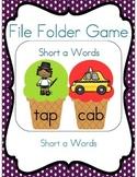 File Folder Game (Short a Words Ice Cream Cones)