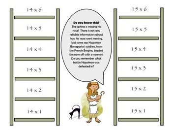 File Folder Game:  Skip Counting by 14's and 15's (Multiplication Facts)