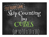 File Folder Game:  Skip Counting by Cubes