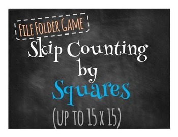 File Folder Game Skip Counting by Squares