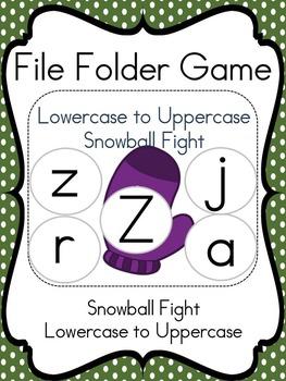 File Folder Game (Snowball Fight)