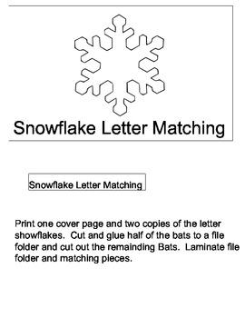 File Folder Game: Snowflake Letter Matching