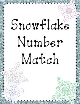 File Folder Game: Snowflake Number Match