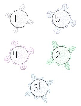 File Folder Game: Snowflake Number Match