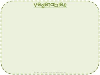File Folder Game- Sorting Fruits and Vegetables