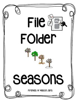 File Folder Game: Sorting the Seasons for SPED