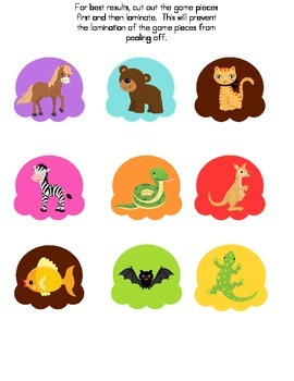 File Folder Game (Sound to Letter Match, Animals from the Zoo)