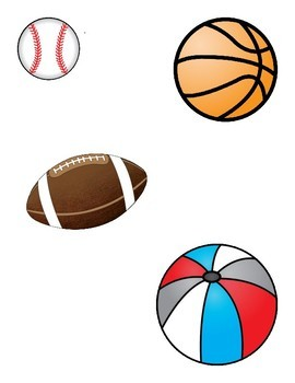 File Folder Game--Sports Related Items