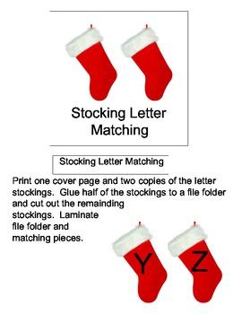 File Folder Game: Stocking Letter Matching