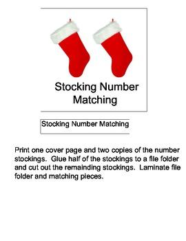 File Folder Game: Stocking Number Matching
