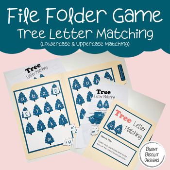 File Folder Game - Tree Letter Matching